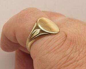Antique Edwardian Men's Rolled Gold Signet Pinky Ring