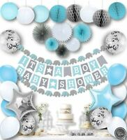 Baby Shower Decorations for Boys Kit Elephant Blue It's a Boy