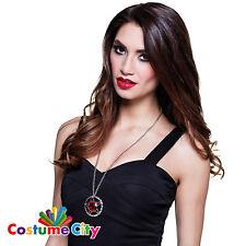 Débardeur femme ruby pentagramme collier vampire accessoires costume robe fantaisie