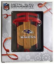 Baltimore Ravens Nfl Efecto de madera de árbol de Navidad Decoración trineo de metal