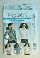 McCalls 5630 Misses Blouses Tie Size 16-22 OOP UNCUT Palmer Pletsch Perfect Fit