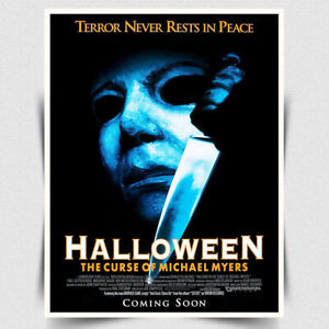 HALLOWEEN 6 THE CURSE OF MICHAEL MYERS SIGN METAL WALL PLAQUE Movie Film poster