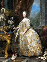 Queen of France portrait oil painting Canvas Giclee Art Print L1902