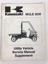 Kawasaki MULE 2030 Utility Vehicle Service Manual 1991 Supplement