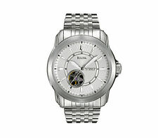 Bulova Men's Automatic 21 Jewel Silver-Tone Case & Bracelet 41mm Watch 96A100