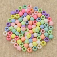 100pcs DIY Mixed Plastic Dreadlock Hair Beads Hair Braid Tibetan Jewelry Craft