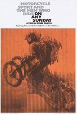 ON ANY SUNDAY Movie POSTER 27x40 D Bruce Brown David Evans Mert Lawwill Steve