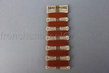 P525 Mercerie ancienne carte fil complete Rouille LAINE SAINT PIERRE Lyon Paris