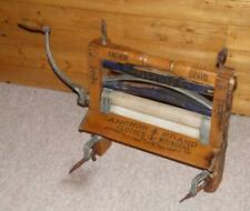 More details for antique hand-cranked clothes wringer mangle anchor brand patented may 5th, 1896