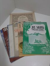 Vintage Lot of 8 Sheet Music w Religious themes