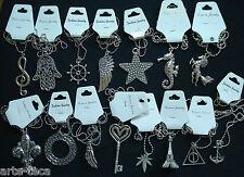 stock 15 collane catena argento tanti modelli pendolo ciondolo bigiotteria vendi