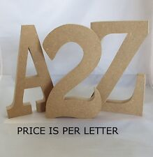 Standing Wooden Letters Large 25 Cm Is per Letter (hob10)
