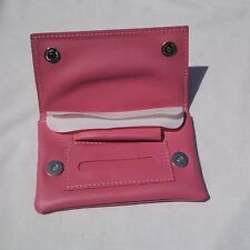 Ladies Pink Leather PVU Tobacco Pouch - Women's Tobacco Pouch - Ideal Gift