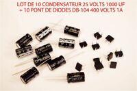 JOUEF LIMA LOT 10 CONDENSATEUR  + PONT DE DIODES  DB-104 ECLAIRAGE WAGON HO 1/87