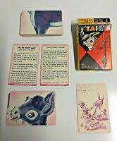 "Vintage 1950's ""Tail"" The Donkey Game Russell Card Game Ages 3-14"