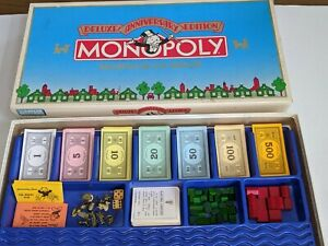 Vintage Monopoly Deluxe Anniversary Edition•Parker Brothers•Complete Game