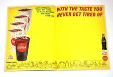 BELLA coca cola coke USA anni '60 SUPPORTO CON American GIOCO DEL CALCIO SPORT