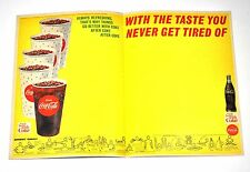 Schöne Coca Cola Coke USA 1960er Unterlage mit American Football Sport Program