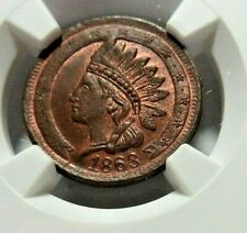 """High Grade - Red/Brown ? - """" Not One Cent """" Pcwt - 95/368a - Ngc Ms - 65Bn - Nr"""