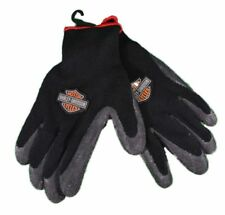 HARLEY DAVIDSON Motorcycle Black Knit Rubber -RIDING Winter Gloves size- Large