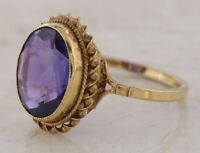 Secondhand 9ct Yellow Gold Oval Amethyst Signet Ring Size O