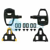 New Shimano PD-R540 SPD SL Clipless Road Pedals pair set with cleats+bolts Black