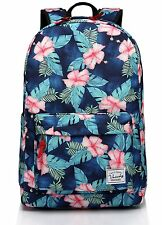 School backpack,Fashion Korean Floral Middle School Teen Girls Backpack fits 15i
