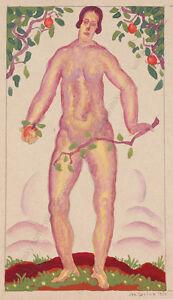 "Josef Lacina (b. 1899) ""Eve"", 1926, gouache"