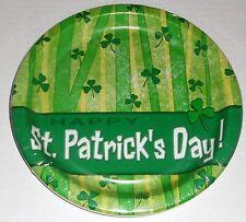 "St Patatrick's Day Plates 8 Ct. 8-3/4""  Happy St, Patricks Day"