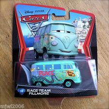 Disney PIXAR Cars 2 RACE TEAM FILLMORE #14 diecast hippie van Volkswagen minibus