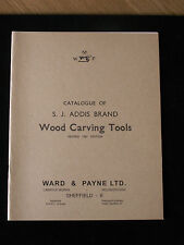 CATALOGUE OF S.J ADDIS BRAND WOOD CARVING TOOLS, new