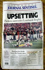 1998 display newspaper GREEN BAY PACKERS lose SUPER BOWL XXXII to Denver Broncos