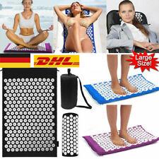 Akupressurmatte+Kopfkissen Massagematte Schnittschmerz Akupunktur Yoga-Matte new