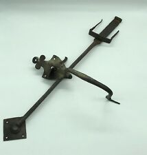 Antique Handle And Fastening Latch 19th IN Wrought Iron Hand