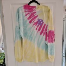 More details for wdw exclusive tie dye spirit jersey- size large - new with tags- pink yellow