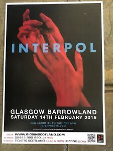 Interpol / gig poster, Glasgow - February 2015