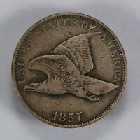 1857 1c FLYING EAGLE SMALL CENT, XF COIN LOT#T648