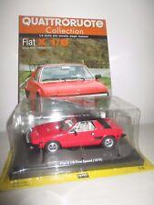 FIAT X1/9 FIVE SPEED 1979 CON FASCICOLO QUATTRORUOTE SCALA 1:24