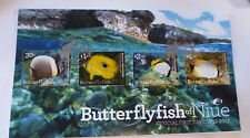 2017 NIUE BUTTERFLY FISH SET OF 4 STAMPS FIRST DAY COVER