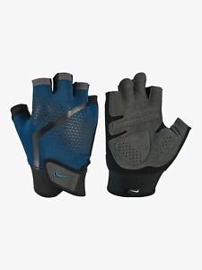 ✅Nike Extreme Light Weight Workout Gloves Black/Blue Gym Exercise Mens Fitness