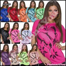 Sexy Womens Tunic Summer Casual Ladies Tunic Top One Size 8,10,12,14,16 UK