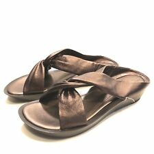 Rockport Brown Leather Slides Sandals Women's Size 9 M Leather Upper APW2537L