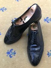 Gucci Mens Shoes Vintage Black Leather Lace Up UK 9 US 10 EU 43