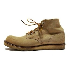 Auth Red Wing 8167 Beige Suede Men Boots 27.5(US #11)