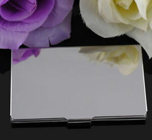 Stainless Steel Pocket Name Credit ID Business Card Holder Box Metal Case  FO