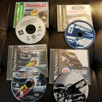 Lot of 4 PS1 Games - Formula 1 Ford Racing Turbo Prop Nascar 99 Complete CIB