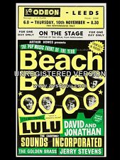 "The Beach Boys / Lulu Leeds Odeon 16"" x 12"" Photo Repro Concert Poster"