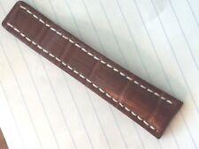 New Breitling 24-20 mm Brown Alligator Strap 110 OEM  1/2 band