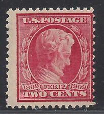US Scott  #367 1909 Lincoln Birth Centenary MNH OG