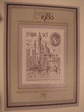 London 1980 International Stamp Exhibition Minisheet 3rd Issue